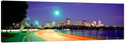 USAMassachusetts, Boston, Highway along Charles River Canvas Print #PIM2096