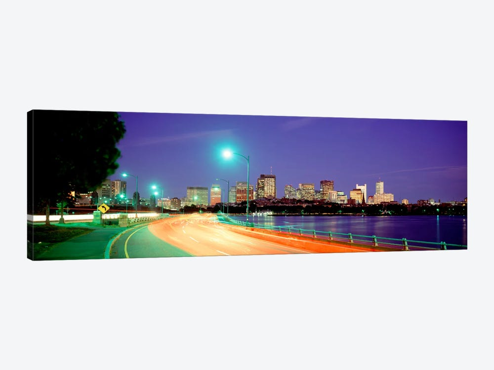 USAMassachusetts, Boston, Highway along Charles River by Panoramic Images 1-piece Canvas Art Print