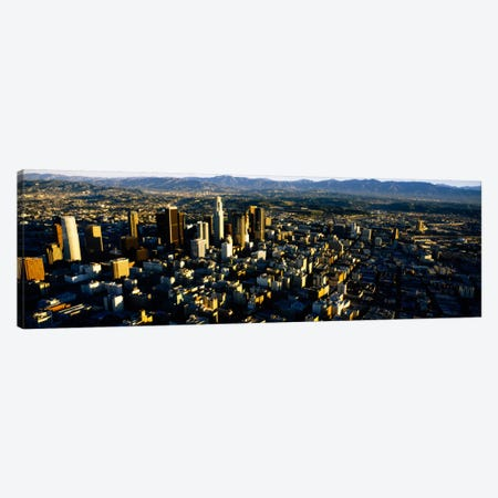 Aerial view of a city, City Of Los Angeles, California, USA Canvas Print #PIM2098} by Panoramic Images Canvas Wall Art
