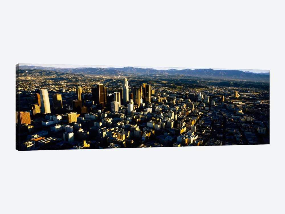Aerial view of a city, City Of Los Angeles, California, USA by Panoramic Images 1-piece Canvas Art Print