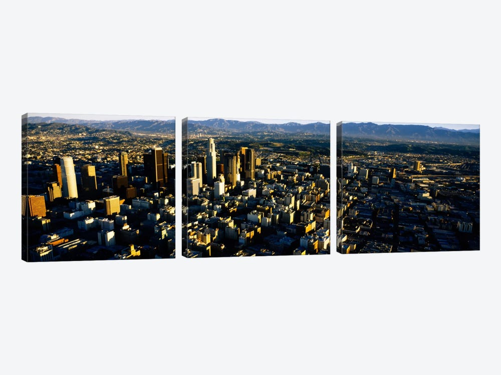 Aerial view of a city, City Of Los Angeles, California, USA by Panoramic Images 3-piece Canvas Art Print
