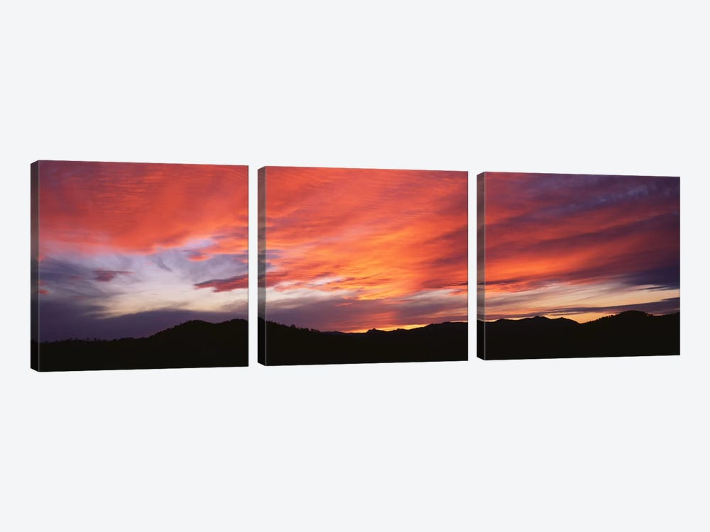 Sunset over Black Hills National Forest Custer Park State Park SD USA by Panoramic Images 3-piece Canvas Wall Art