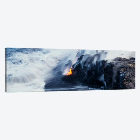 Glowing Lava Stream, Hawai'i Volcanoes National Park, Big Island, Hawaii, USA Canvas Print #PIM209} by Panoramic Images Canvas Wall Art