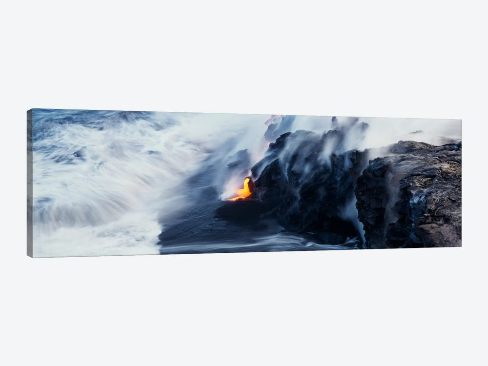Glowing Lava Stream, Hawai'i Volcanoes National Park, Big Island, Hawaii, USA by Panoramic Images 1-piece Canvas Wall Art