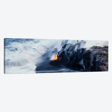 Glowing Lava Stream, Hawai'i Volcanoes National Park, Big Island, Hawaii, USA Canvas Print #PIM209} by Panoramic Images Canvas Wall Art