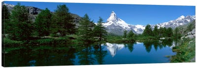 Matterhorn's Reflection, Riffelsee, Zermatt, Valais, Switzerland Canvas Print #PIM2105