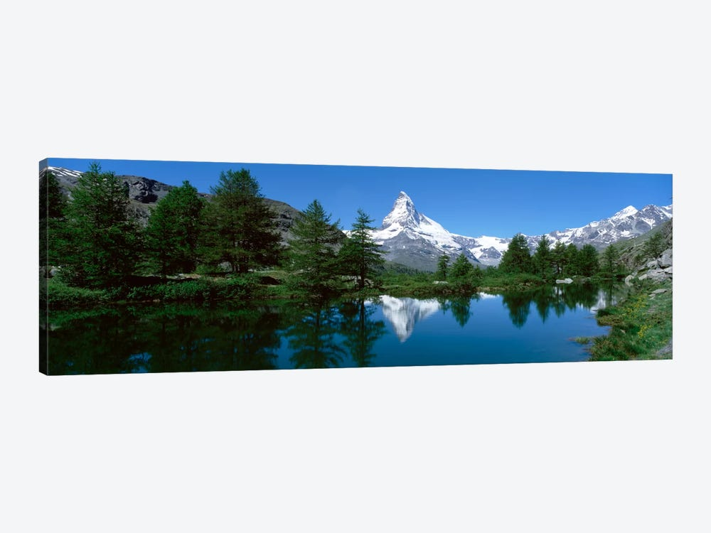 Matterhorn's Reflection, Riffelsee, Zermatt, Valais, Switzerland by Panoramic Images 1-piece Canvas Wall Art
