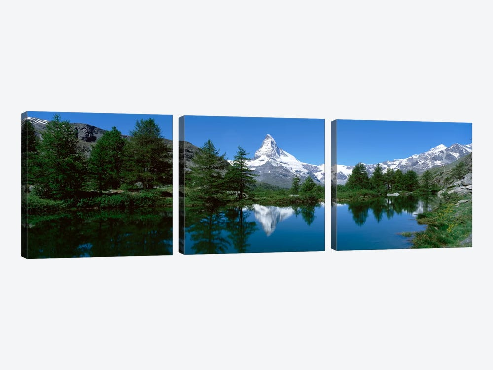 Matterhorn's Reflection, Riffelsee, Zermatt, Valais, Switzerland 3-piece Canvas Art