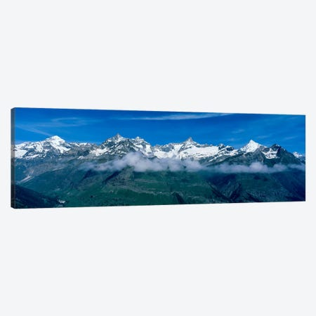 Aerial View, Swiss Alps, Switzerland Canvas Print #PIM2109} by Panoramic Images Canvas Art