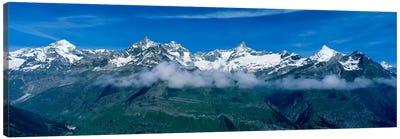 Aerial View, Swiss Alps, Switzerland Canvas Print #PIM2109