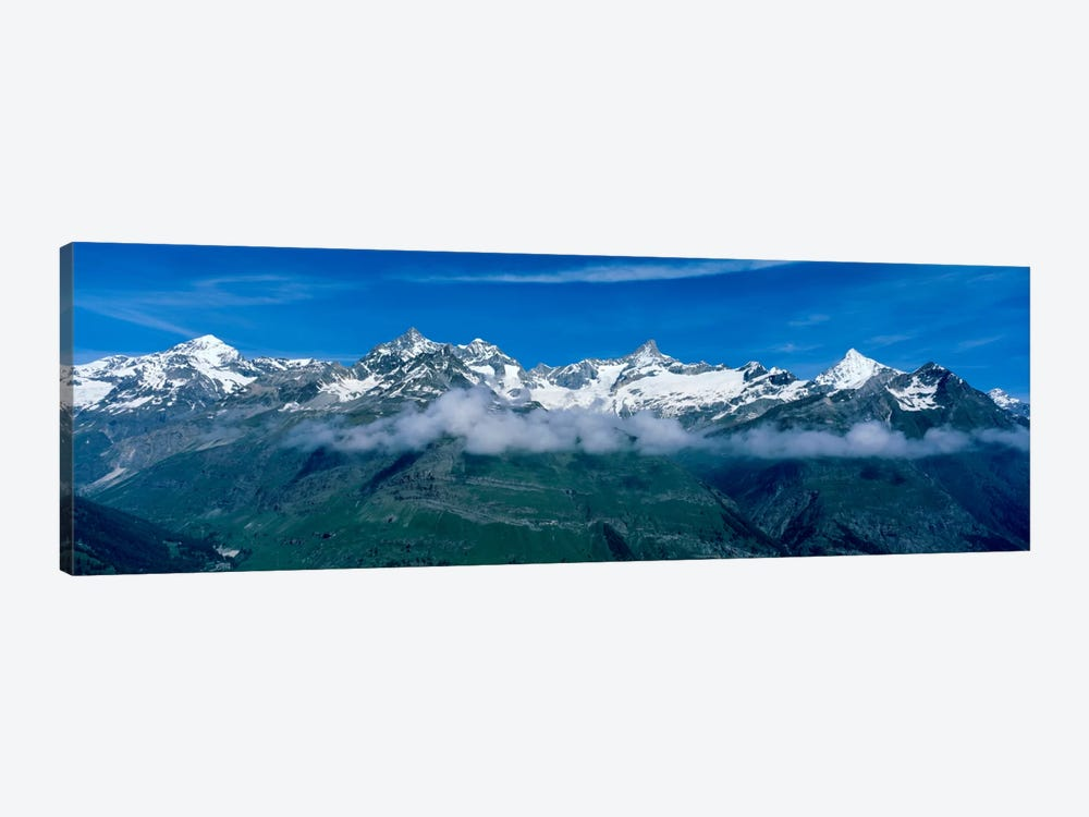 Aerial View, Swiss Alps, Switzerland by Panoramic Images 1-piece Canvas Wall Art