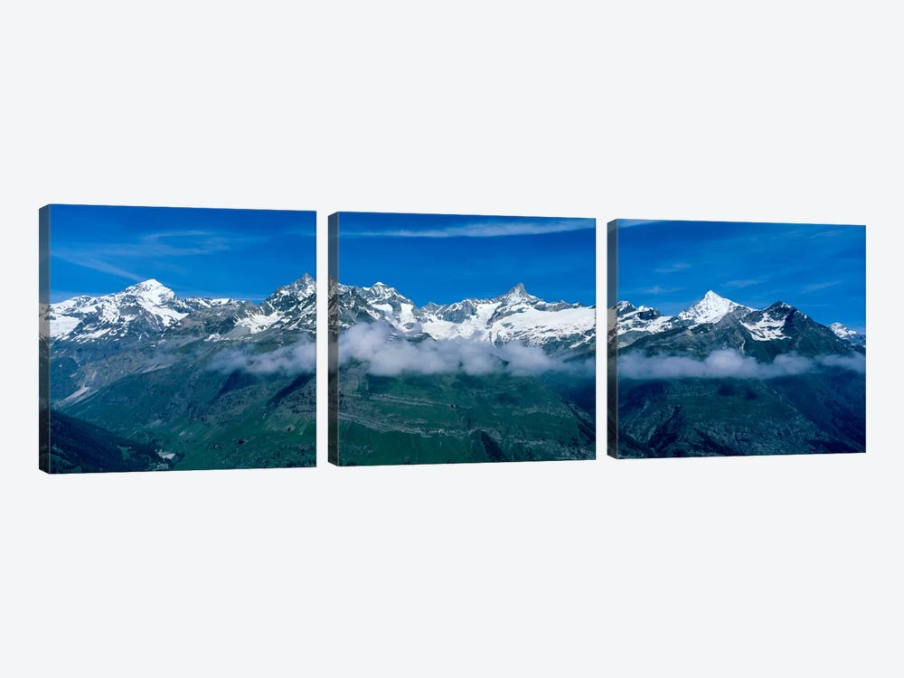 Aerial View, Swiss Alps, Switzerland by Panoramic Images 3-piece Canvas Artwork