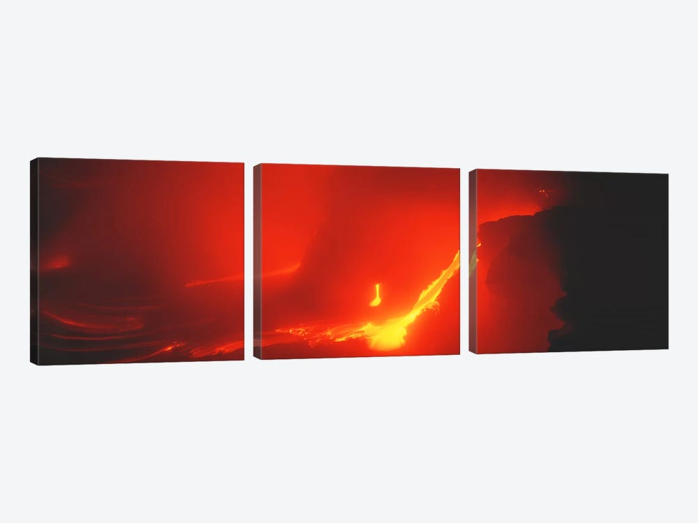 Kilauea Volcano Hawaii HI USA by Panoramic Images 3-piece Canvas Artwork
