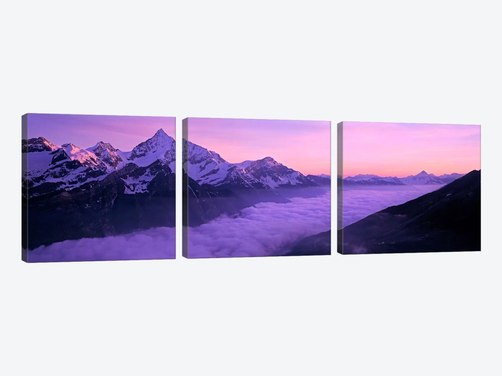 Cloud Cover I, Swiss Alps, Switzerland 3-piece Canvas Wall Art