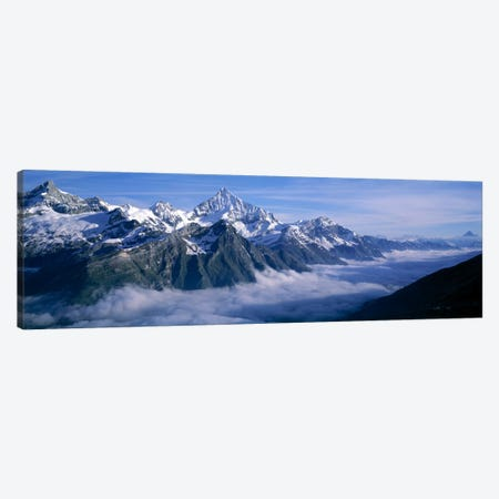Cloud Cover II, Swiss Alps, Switzerland Canvas Print #PIM2111} by Panoramic Images Canvas Art Print