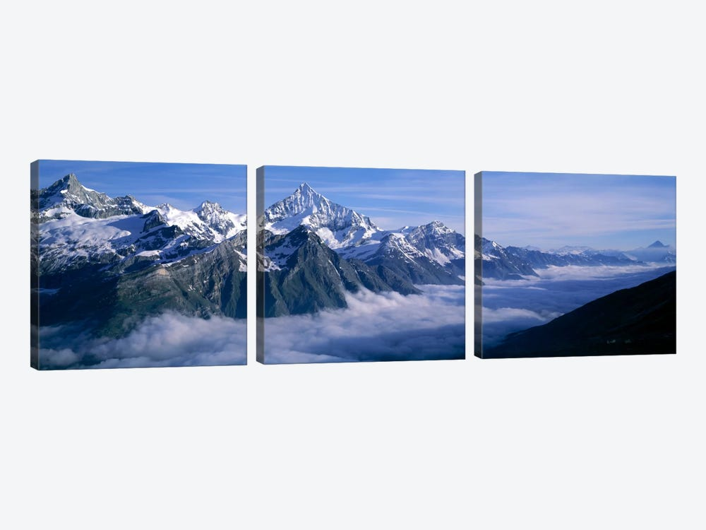 Cloud Cover II, Swiss Alps, Switzerland 3-piece Canvas Print