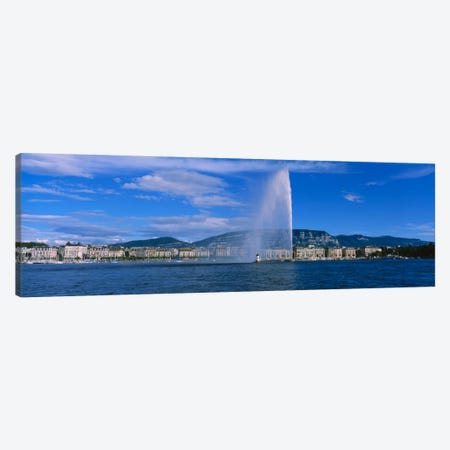 A Jetting Jet d'Eau, Geneva, Switzerland Canvas Print #PIM2115} by Panoramic Images Canvas Artwork
