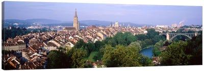 Aerial View Of Innere Stadt, Bern, Switzerland Canvas Print #PIM2120