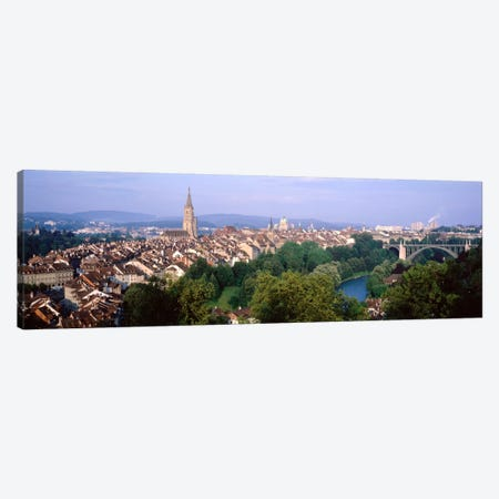 Aerial View Of Innere Stadt, Bern, Switzerland 3-Piece Canvas #PIM2120} by Panoramic Images Canvas Artwork