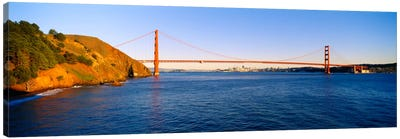 Suspension bridge across the sea, Golden Gate Bridge, San Francisco, California, USA #2 Canvas Print #PIM2125