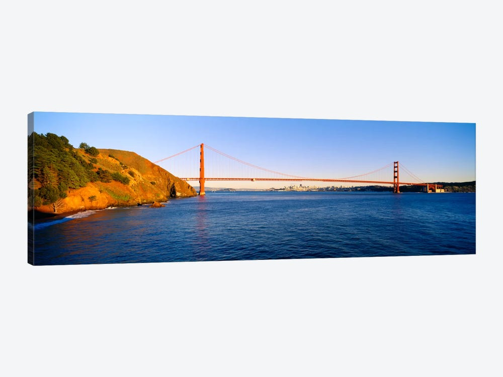 Suspension bridge across the sea, Golden Gate Bridge, San Francisco, California, USA #2 by Panoramic Images 1-piece Canvas Artwork