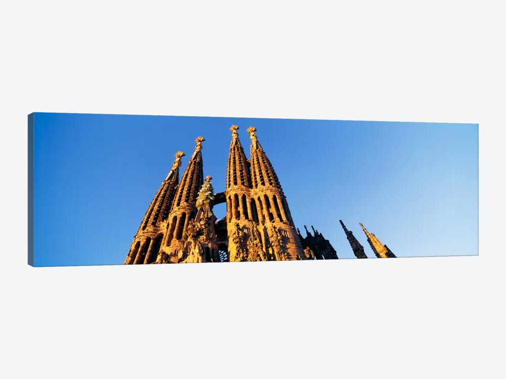 Low angle view of a churchSagrada Familia, Barcelona, Spain by Panoramic Images 1-piece Canvas Art Print