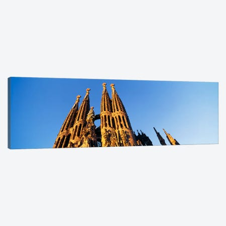 Low angle view of a churchSagrada Familia, Barcelona, Spain Canvas Print #PIM2128} by Panoramic Images Canvas Art