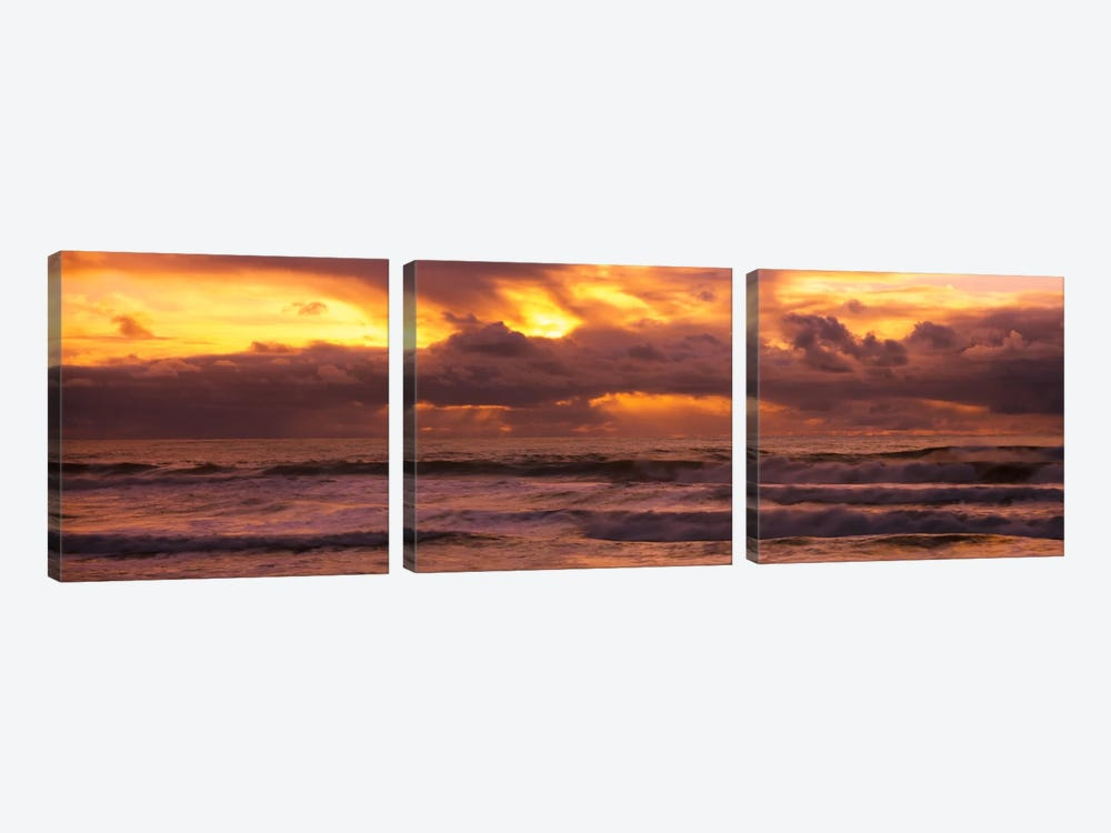 Clouds over the oceanPacific Ocean, California, USA by Panoramic Images 3-piece Canvas Art Print