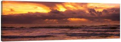 Clouds over the oceanPacific Ocean, California, USA Canvas Art Print
