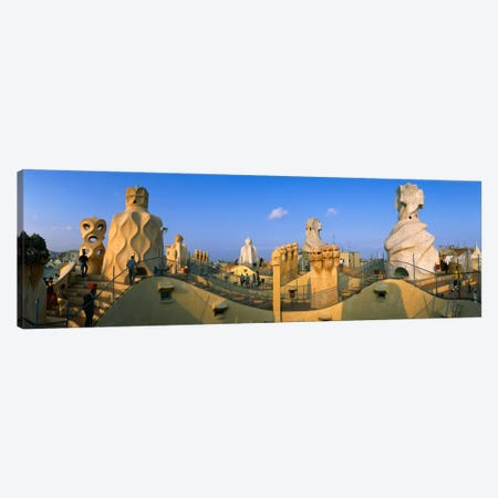 Rooftop Espanata Bruixes (Witch Scarers), Casa Mila, Barcelona, Catalonia, Spain Canvas Print #PIM2134} by Panoramic Images Canvas Wall Art