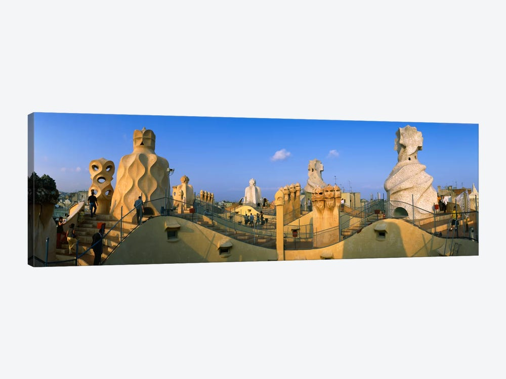 Rooftop Espanata Bruixes (Witch Scarers), Casa Mila, Barcelona, Catalonia, Spain by Panoramic Images 1-piece Canvas Art
