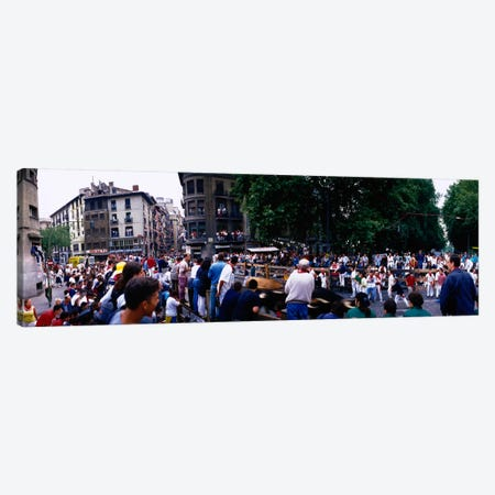 Crowd at Festival of San Ferminrunning of the bulls, Pamplona, Navarre, Spain Canvas Print #PIM2135} by Panoramic Images Canvas Art
