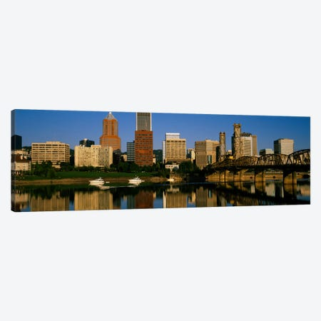 Buildings at the waterfront, Portland, Oregon, USA Canvas Print #PIM2139} by Panoramic Images Canvas Print