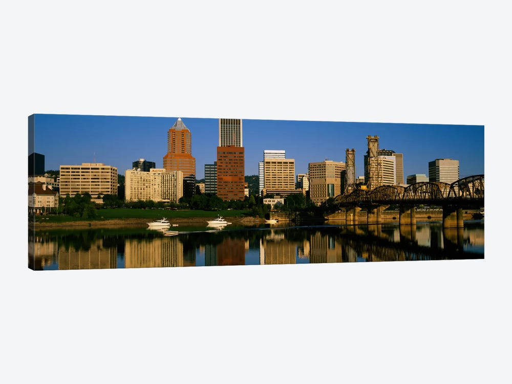 Buildings at the waterfront, Portland, Oregon, USA by Panoramic Images 1-piece Canvas Print