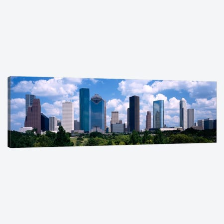 Skyscrapers in a cityHouston, Texas, USA Canvas Print #PIM2140} by Panoramic Images Canvas Art