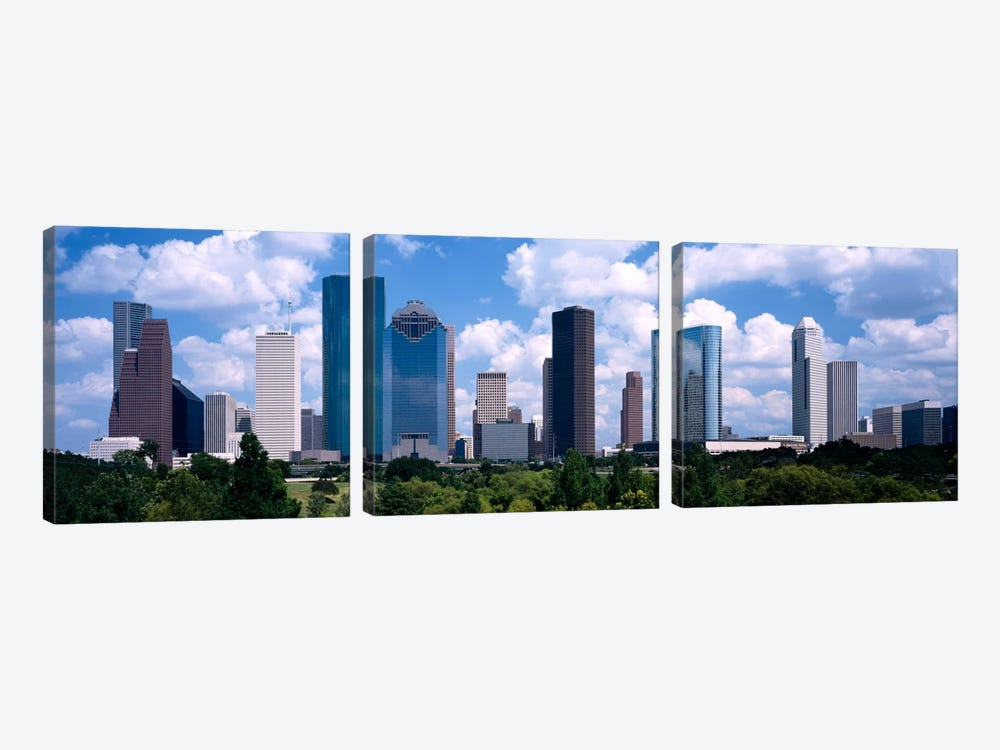 Skyscrapers in a cityHouston, Texas, USA by Panoramic Images 3-piece Art Print