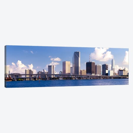 Buildings at the waterfront, Miami, Florida, USA Canvas Print #PIM2141} by Panoramic Images Canvas Wall Art