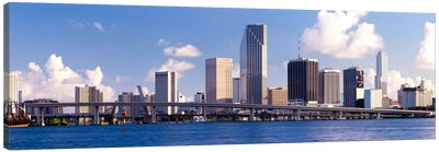 Buildings at the waterfront, Miami, Florida, USA Canvas Print #PIM2141
