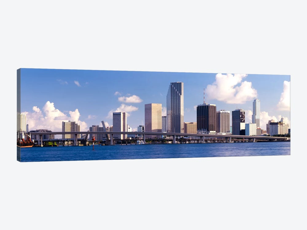Buildings at the waterfront, Miami, Florida, USA 1-piece Canvas Art