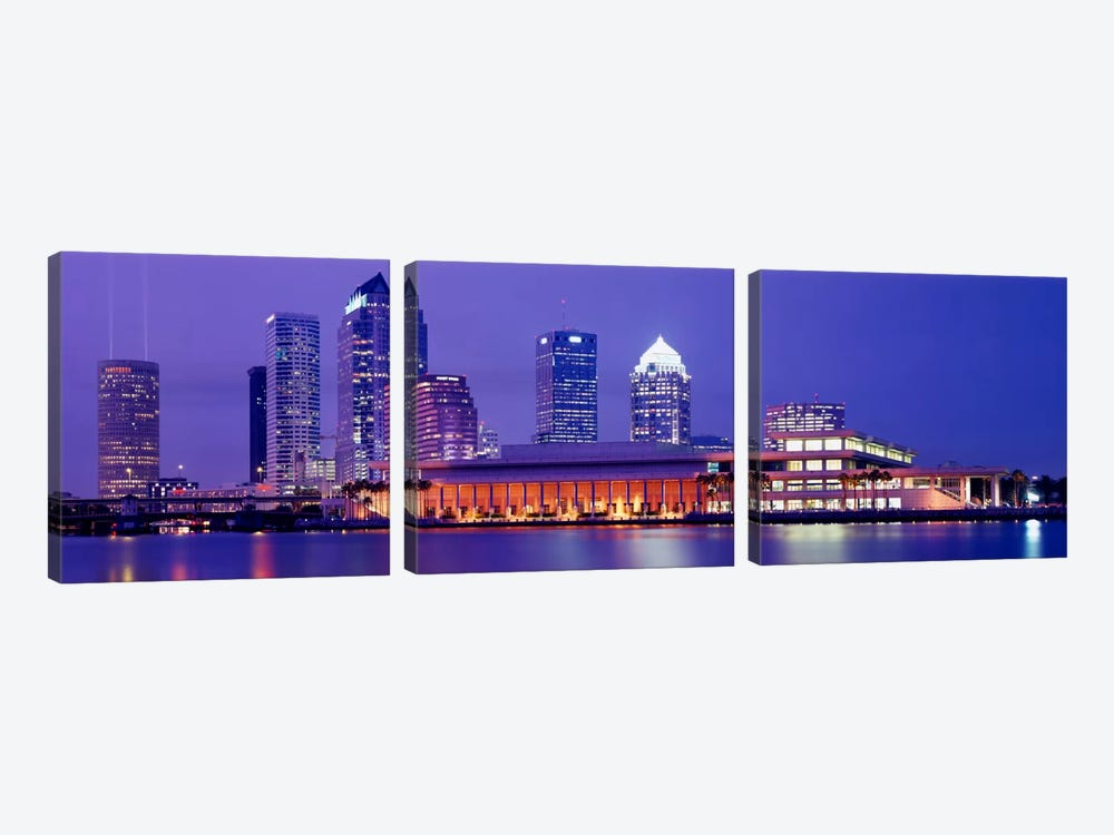Building at the waterfront, Tampa, Florida, USA by Panoramic Images 3-piece Art Print
