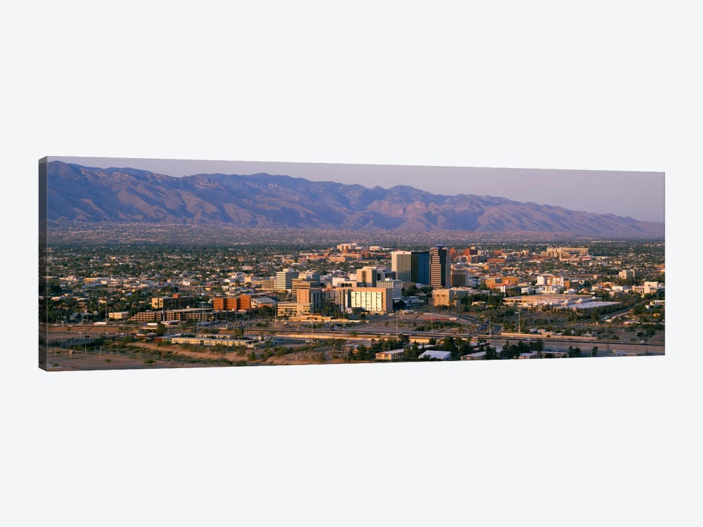 High angle view of a cityscapeTucson, Arizona, USA 1-piece Canvas Art
