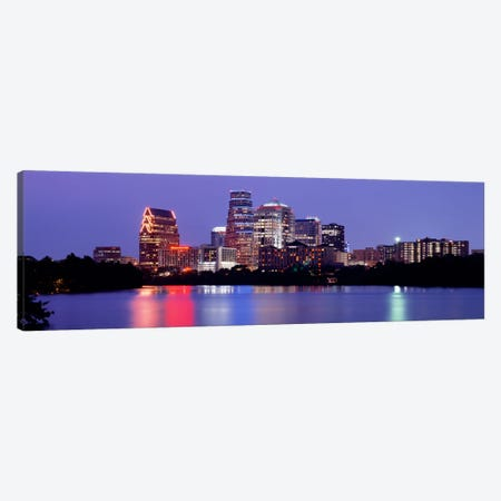 USTexas, Austin, skyline, night Canvas Print #PIM2144} by Panoramic Images Art Print