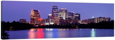 USTexas, Austin, skyline, night Canvas Print #PIM2144