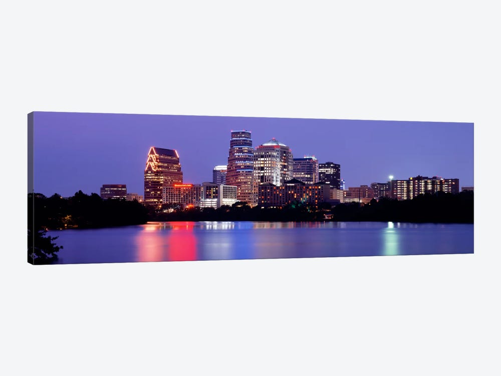 USTexas, Austin, skyline, night by Panoramic Images 1-piece Art Print
