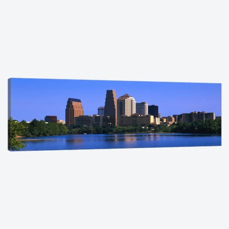 Skyscrapers at the waterfront, Austin, Texas, USA Canvas Print #PIM2145} by Panoramic Images Canvas Print