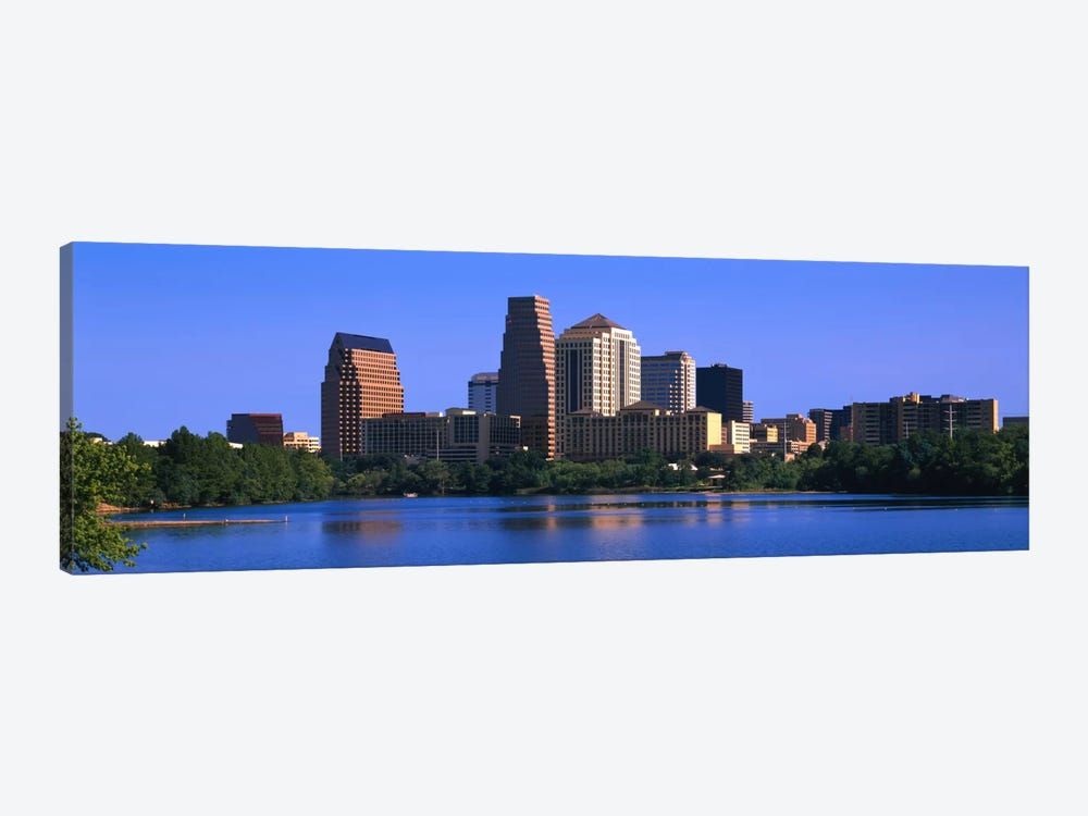 Skyscrapers at the waterfront, Austin, Texas, USA by Panoramic Images 1-piece Canvas Artwork