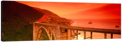 Majestic Coastal Landscape Featuring Bixby Creek Bridge, Big Sur, Monterey County, California, USA Canvas Print #PIM2148
