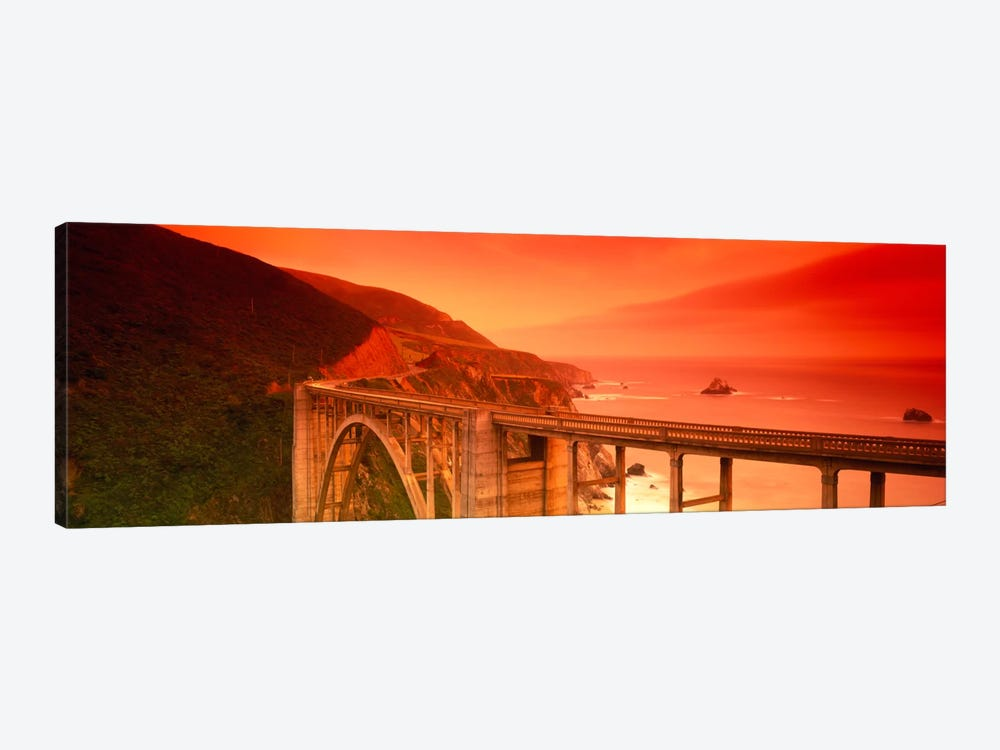 Majestic Coastal Landscape Featuring Bixby Creek Bridge, Big Sur, Monterey County, California, USA by Panoramic Images 1-piece Canvas Art Print