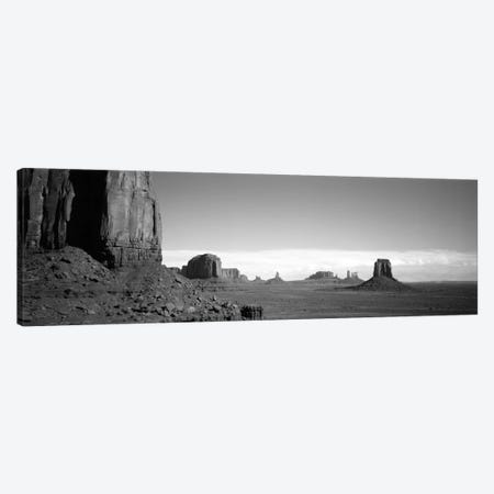Monument Valley In B&W, Navajo Nation, Arizona, USA Canvas Print #PIM2150} by Panoramic Images Canvas Print