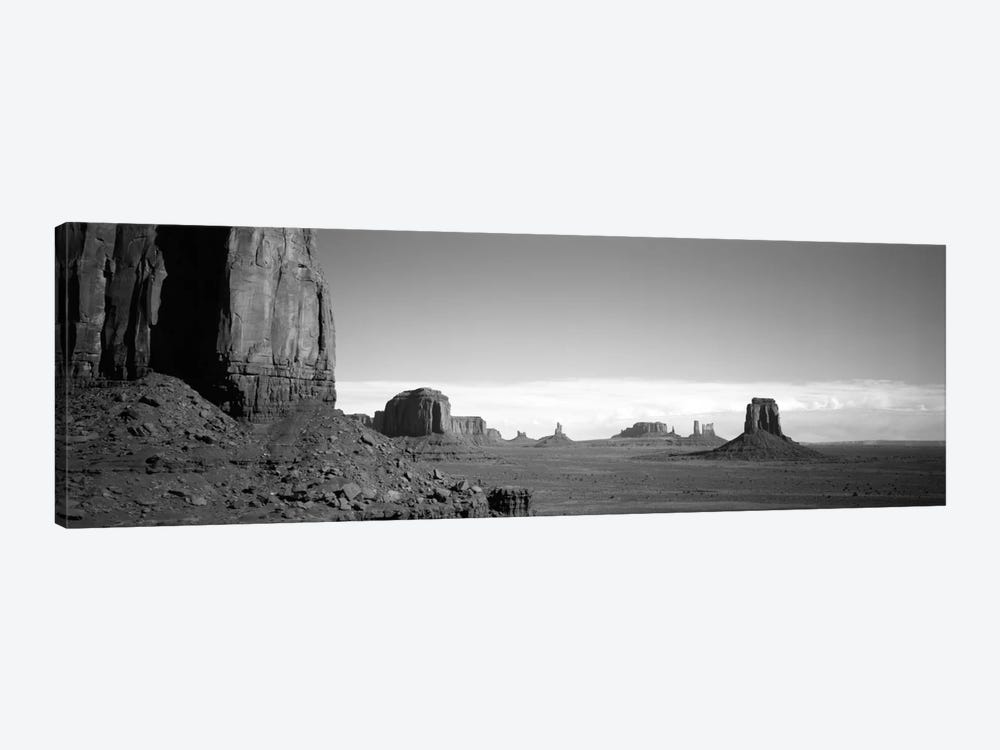 Monument Valley In B&W, Navajo Nation, Arizona, USA by Panoramic Images 1-piece Canvas Art